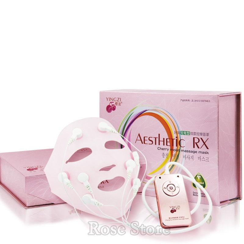 Carga de cara máscara quitar las arrugas Chin elevación de mejillas masaje vibración máscara de rejuvenecimiento de la piel masaje de belleza en spa dispositivo - 5
