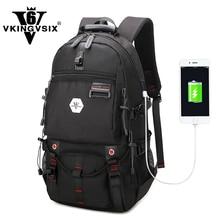 VKINGVSIX USB Waterproof backpack Women Men 15 6 inch laptop backpacks Travel teen school font b