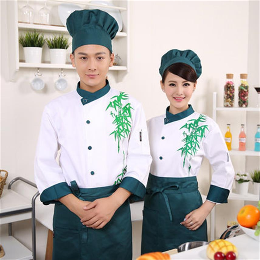 Men 's And Women' S Fall And Winter Clothes Chef Long And Short Sleeves Hotel Restaurant Restaurant Chef Baking Cake Points Over