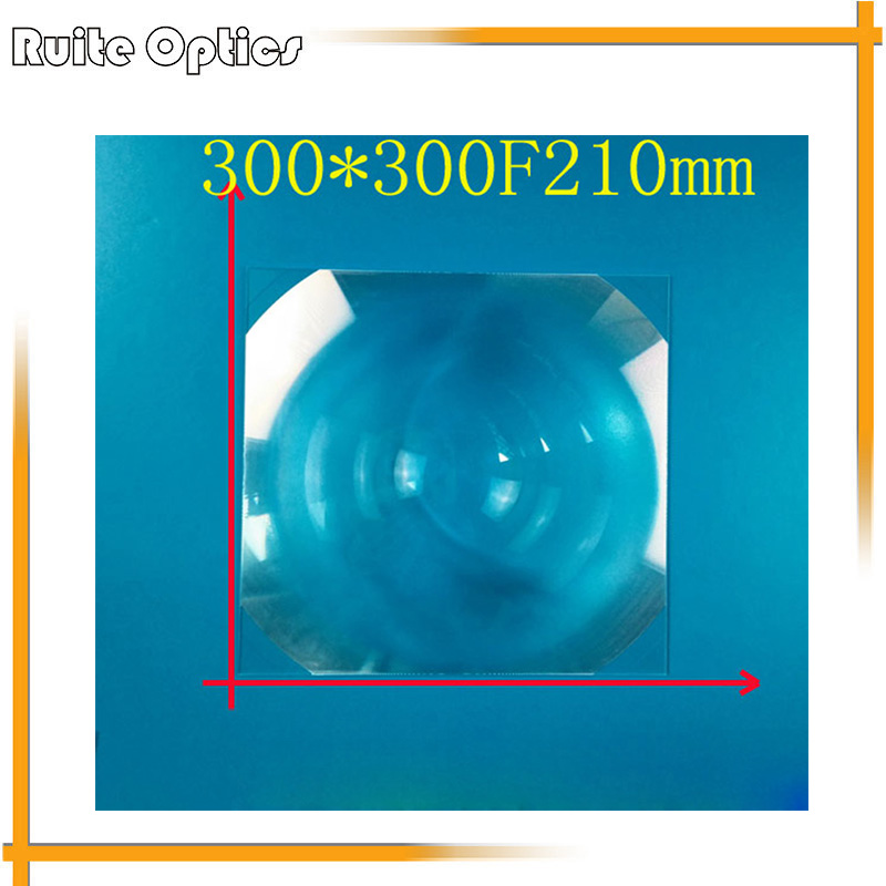 300x300mm Square PMMA Plastic Fresnel Condensing Lens Solar Energy Focal Length 210mm for Plane Magnifier,Solar concentrator 1pc 520mm big pmma plastic solar fresnel condensing lens focal length 620mm for plane magnifier large solar concentrator lens