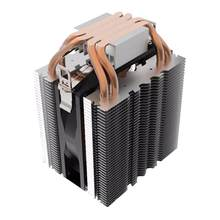Kipas Pendingin Cpu Heatsink 4 Pcs Heatpipe Radiator Biru LED Hydraulic Bearing Tenang 3pin untuk Intel Soket Core I7/ i5/I3(China)