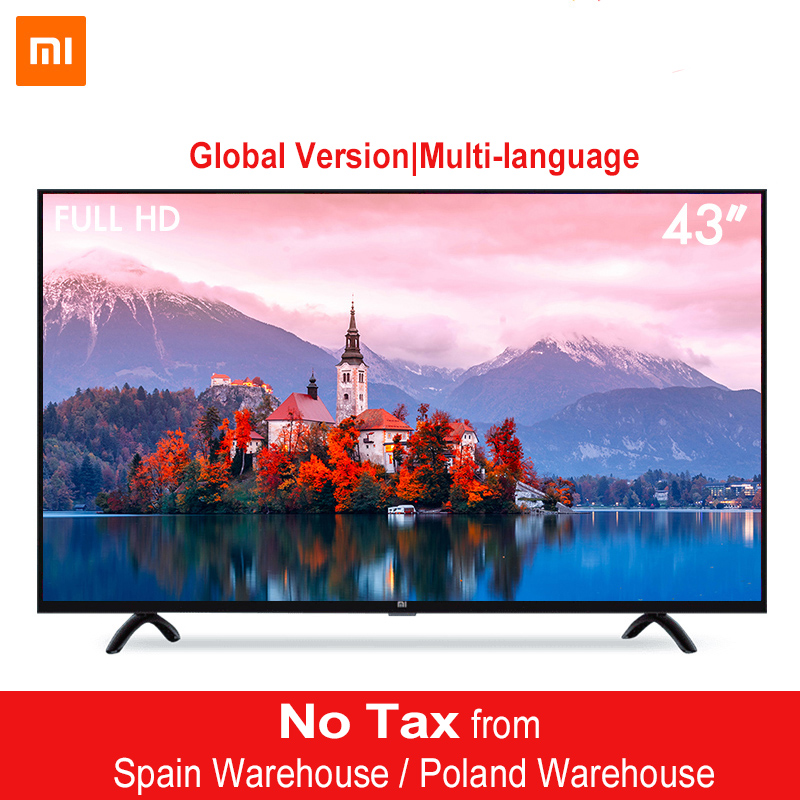 Xiao mi mi 4A 43 polegadas LED Full HD Android TV Inteligente 8.0 4A 108 centímetros Final PatchWall 1 GB 8 GB Ultra-brilhante LEVOU 1920x1080 Exibição