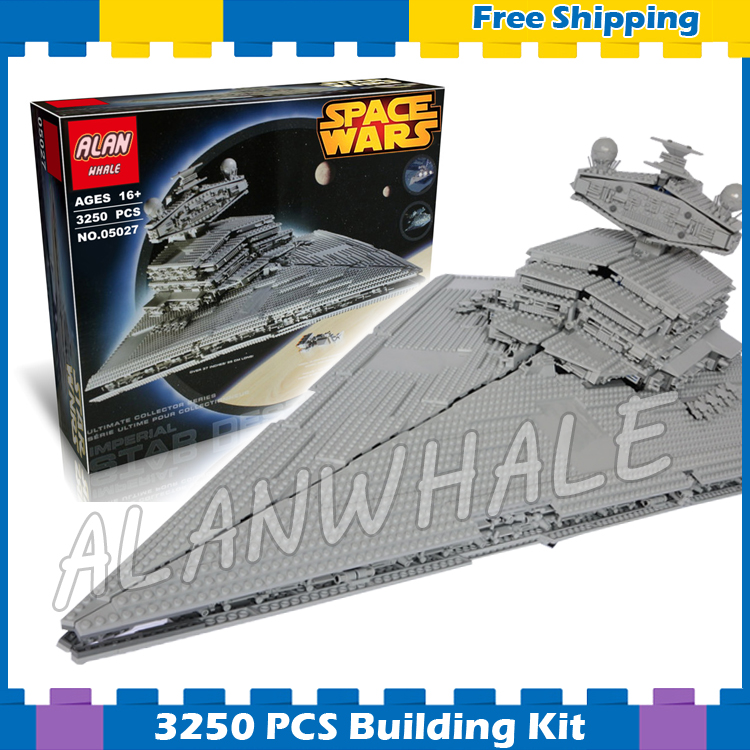 3250pcs New Space Wars universe 05027 Star Destroyer DIY Model Building Blocks Great Teenagers Gifts Sets Compatible with Lego new lepin 05027 3250pcs star wars imperial star destroyer model building kit blocks bricks compatible legoed toys 10030
