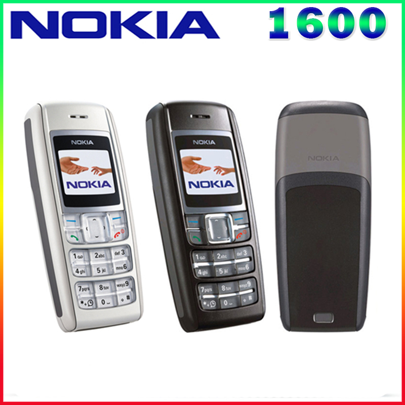 1600 Original Nokia 1600 Cell Phone Dual band GSM Unlocked Phone GSM 900 1800 Free Shipping
