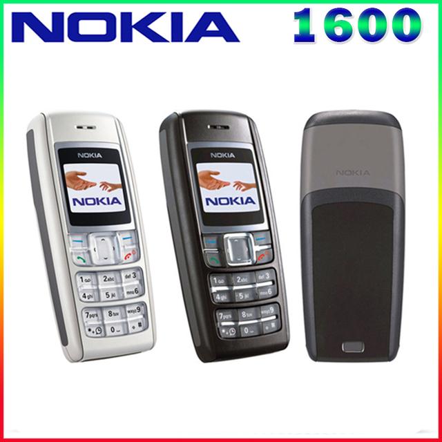 1600 original nokia 1600 teléfono celular de banda dual gsm desbloqueado teléfono gsm 900/1800 envío gratis