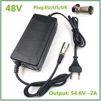 54.6v2a carregador 54.6v 2a bicicleta elétrica carregador de bateria de lítio para 48 v bateria de lítio xlr plug 54.6v2a carregador|Carregadores| |  -