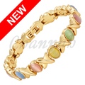 Channah 2017 Women 5-Colors Cat Eye Stones Gold Magnetic Bracelet Ladies Jewellery Colourful Bangle Free Shipping Charm