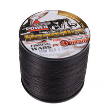 wholesale  japan Multifilament  pe braided fishing line 4 strands 500 meters Black color  braided wire  free shipping
