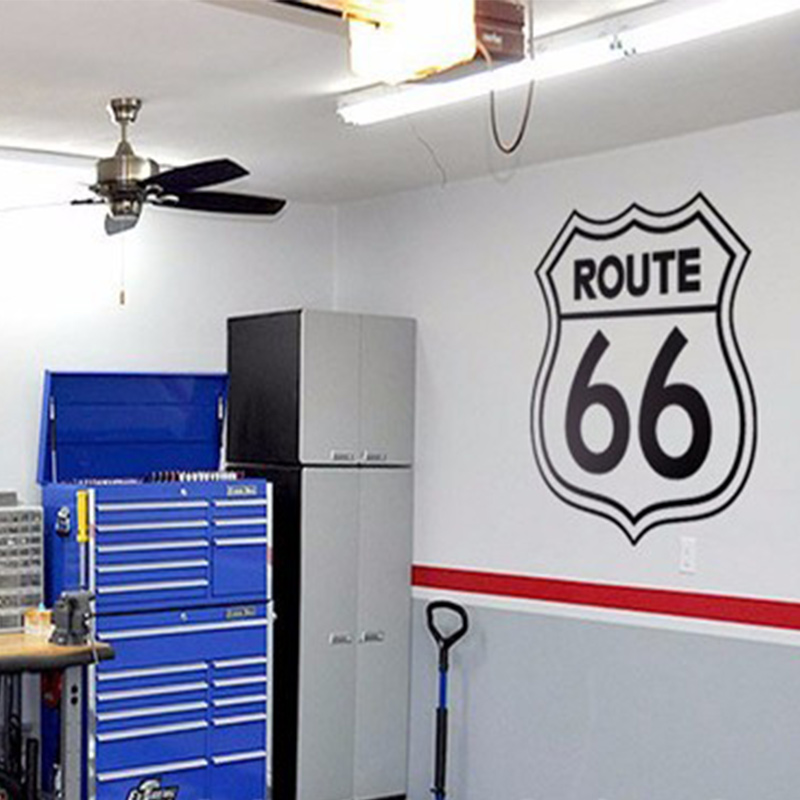Rushed Diy Poster Vintage Signs Route 66 Number Stickers Living Room Wall Decals Window  ...