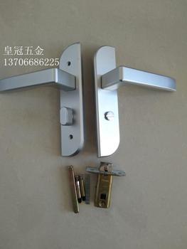 Indoor bedroom lock handle, bathroom door lock, keyless toilet, aluminium alloy single tongue toilet door lock handle