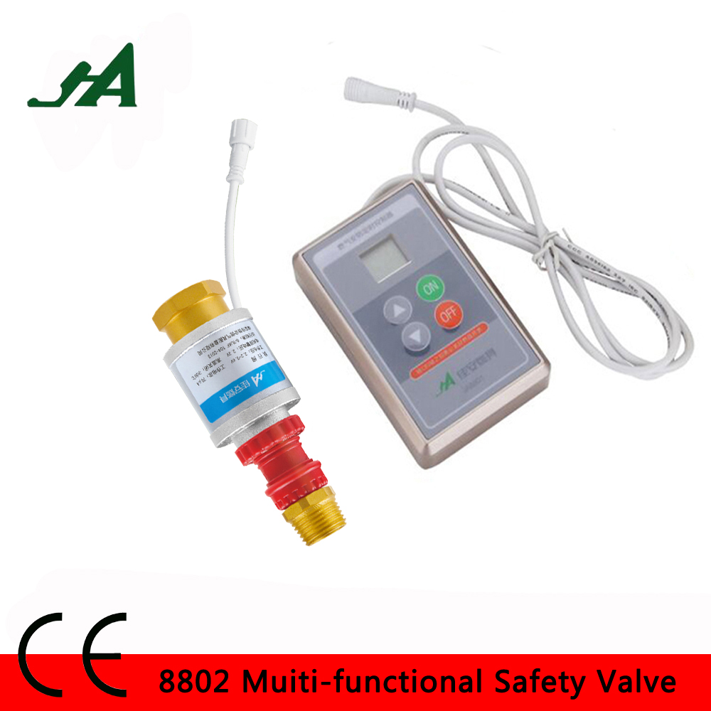 JA8802 Smart control self-closing valve Anti Leakage solenoid valve Cook set stop valve cut relife timer