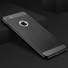 цена на Ultra Slim Phone Case For iPhone XS MAX XR X 6 6s 7 8 Plus Hollow Heat Dissipation Cases Hard PC For iPhone 5 5S SE Back Cove
