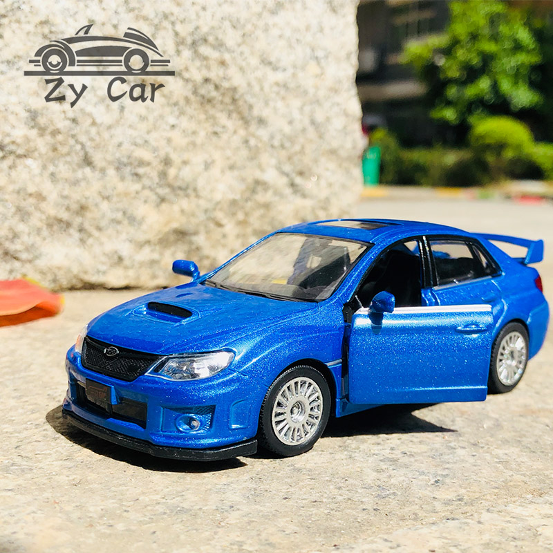 1:36.Subaru WRX STI Alloy Racing Metal Material Sports Car