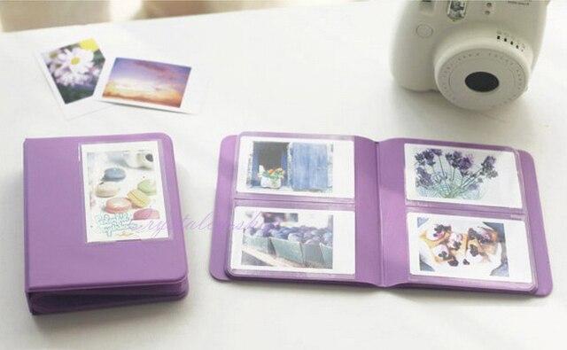 Lavender Candy Color Instax Mini 7s 8 25 50s Instant PVC Photo Album 64 Films For