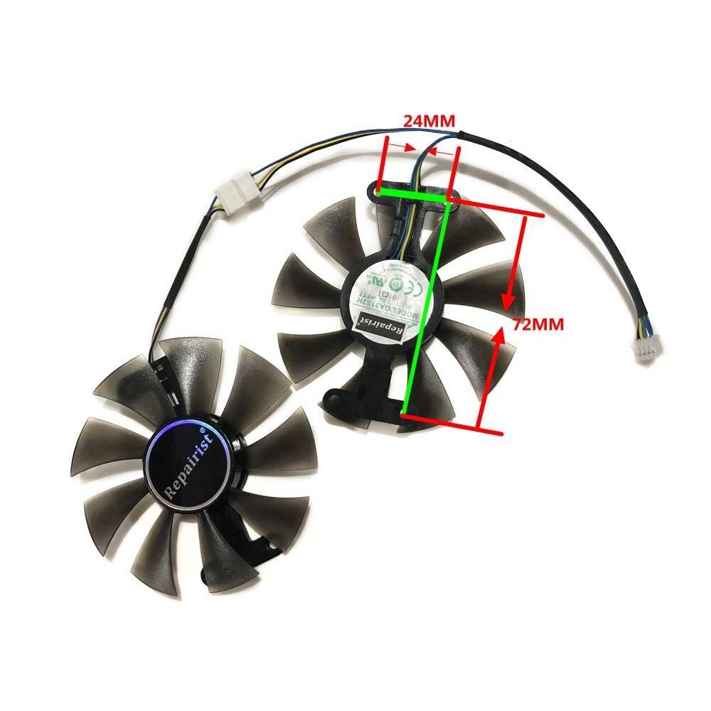 2 шт./компл. GeForce GTX 950 960 1050 1060 GPU кулер вентилятор охлаждения GA91S2H для ZOTAC GTX1050Ti X-игровой GTX760 2GD5 HB карт охлаждения