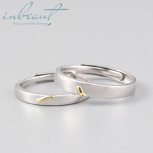 inbeaut 925 Silver 520 Clock Couple Rings Female Original S925 Gold Love Moment Wedding Ring for Women Engagement Lovers Jewelry