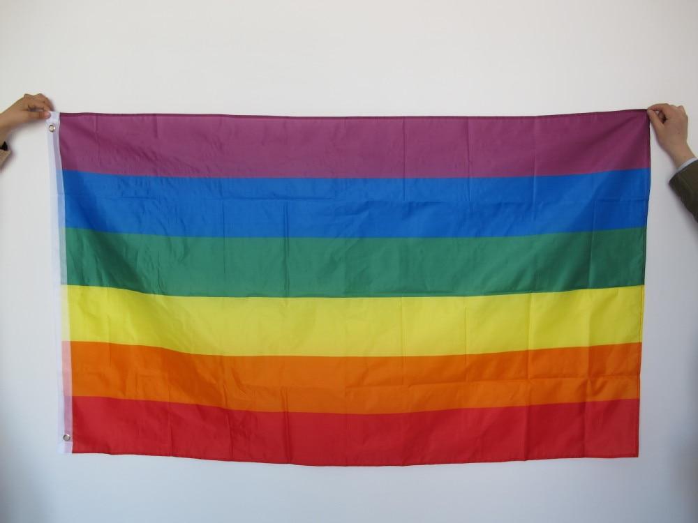 Free shipping Aerlxemrbrae Rainbow Flag 3x5 FT - Үйдің декоры - фото 2