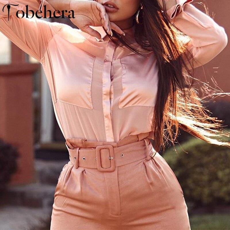Glamaker Sexy stand neck women blouse shirt Long sleeve patchwork buttons blouse winter 2019 Femme elegant fashion office blusas