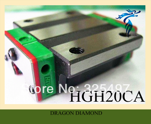 ФОТО ORIGINAL HIWIN HGH20CA Linear Guide Bearing Slider Blocks For CNC Router