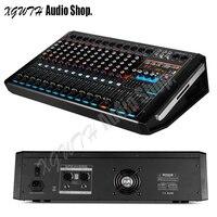 750W + 750W DJ คาราโอเกะ 12 Channel เสียงเครื่องขยายเสียงพร้อม Bluetooth USB 99 Digital Effects คอนโซลผสม