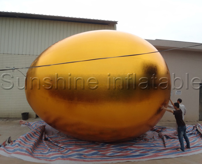 Customize giant inflatable golden egg for easter decoration