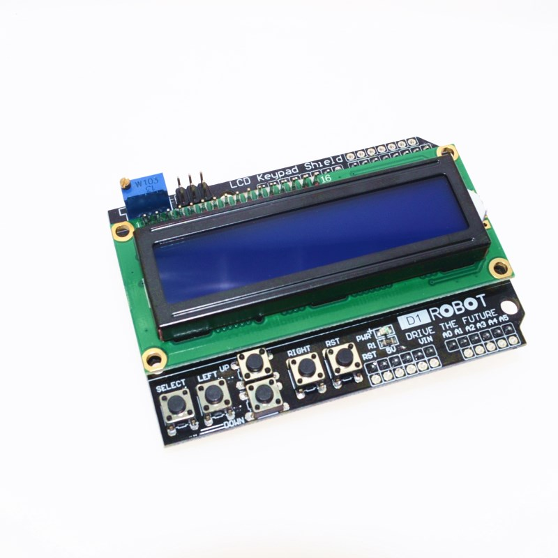 1PCS LCD Keypad Shield LCD1602 LCD 1602 Module Display For Arduino ATMEGA328 ATMEGA2560 raspberry pi UNO blue screen цены