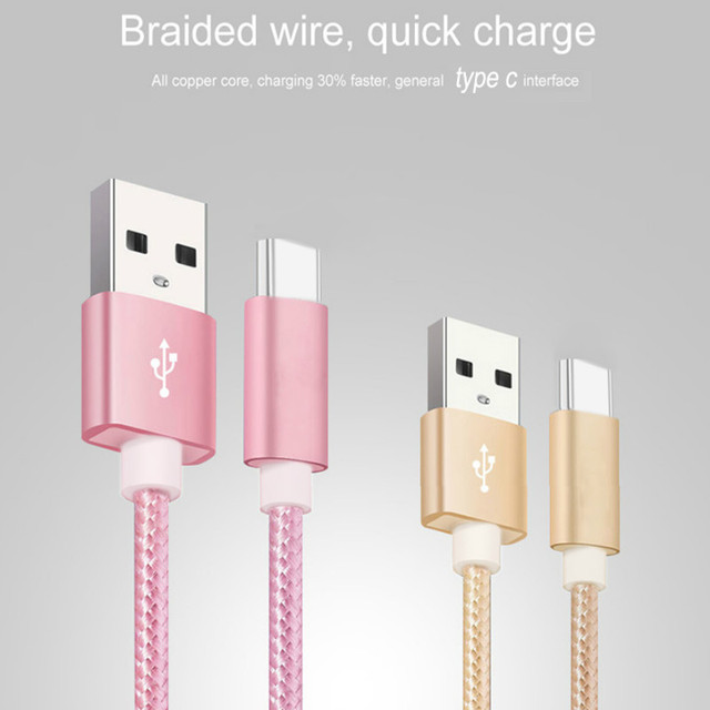 USB A 2.0 to USB C Fast Charger Nylon Braided USB C Cable compatible Samsung Galaxy S10 S9 S8 plus Note 9 8,Moto Z,LG V30 V20 G5