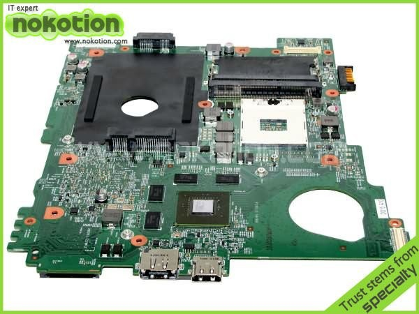 NOKOTION CN-0J2WW8 0J2WW8 J2WW8 Main Board For Dell inspiron N5110 Laptop Motherboard HM67 DDR3 GT525M 1GB nokotion cn 0uw953 uw953 mainboard for dell inspiron 1501 laptop motherboard 0uw953 ddr2 socket s1