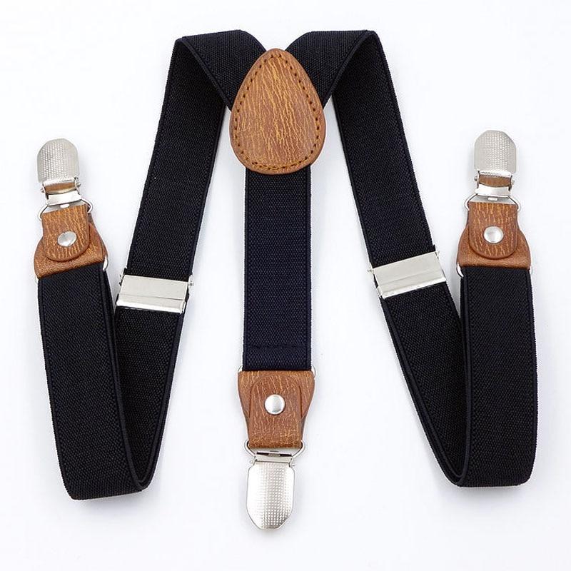 European Fashion Boys And Girls Three Clip Suspenders FY18101903