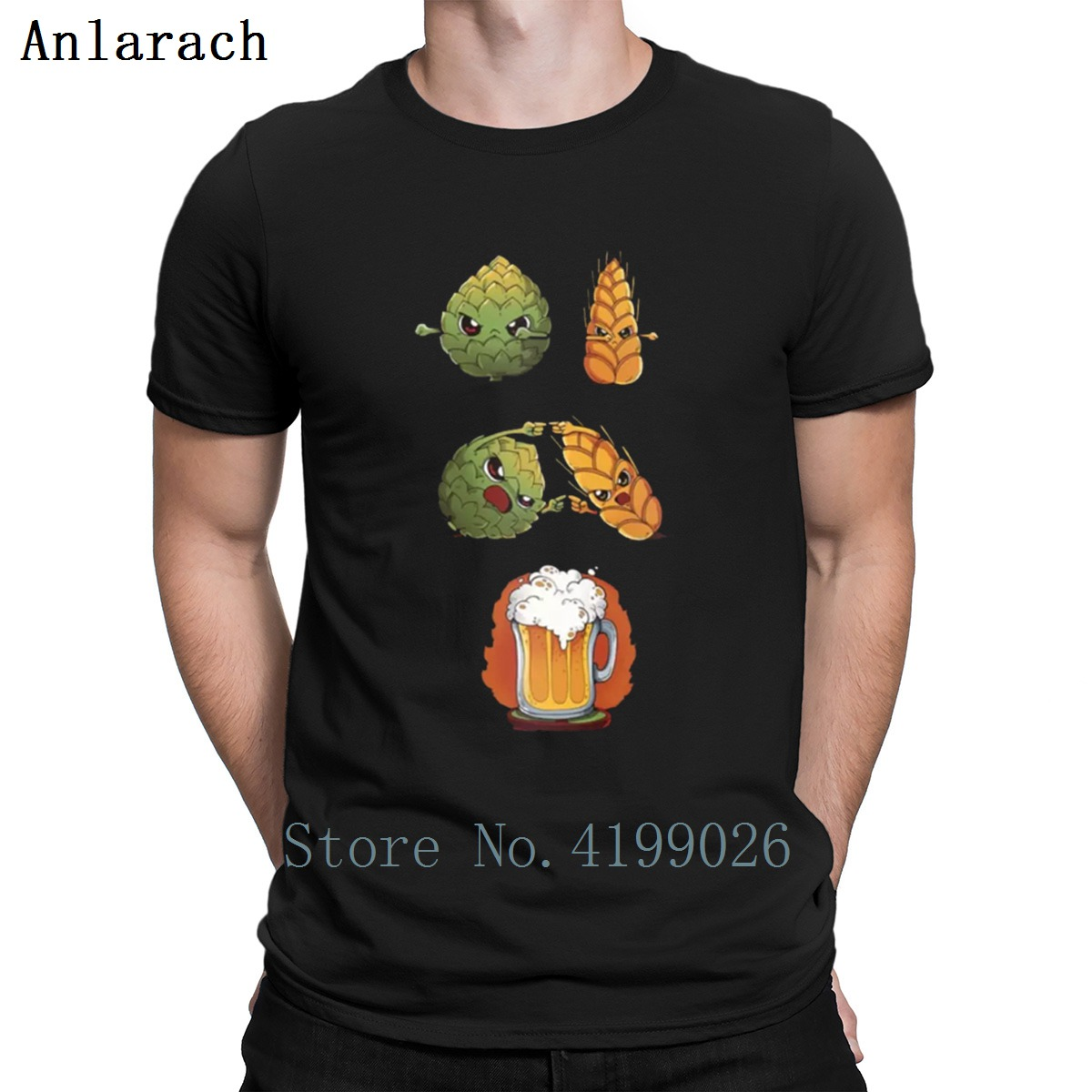 Custom Beer Fusion T-shirt Funny Vintage Style Quality Tee Crew Neck Euro Size Fashion Quality HipHop Top Pattern Tee Summer
