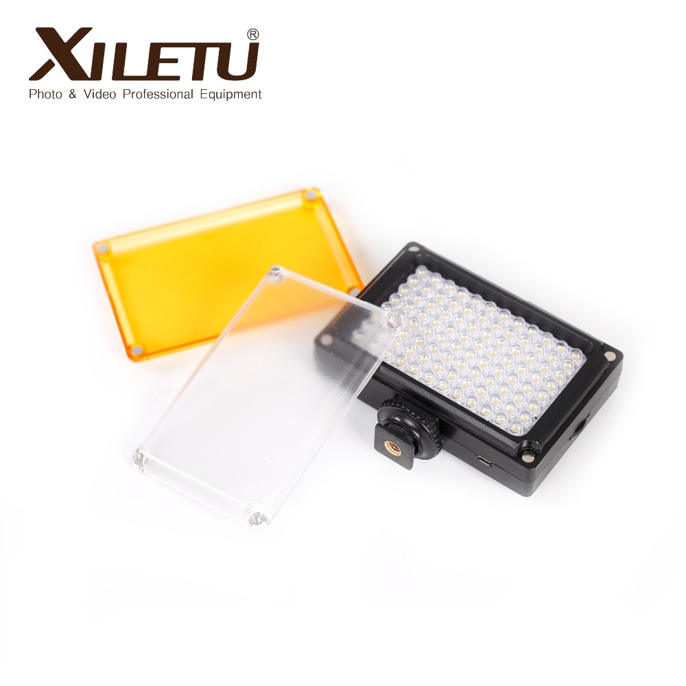 XILETU 96 LED video light portable fill light spotlight with hotshoe for smartphone cellphone camera internet celebrity