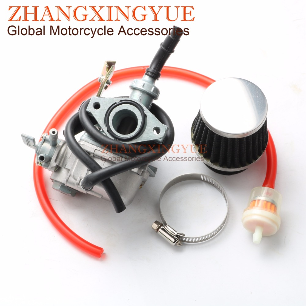 PZ19 Carburetor & Air Filter 50cc 110cc Dirt Bike ATV Go Kart