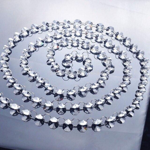6,8 Füße Glas Kristall Prismen 14mm Octagon Kronleuchter Kette ...