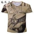 2016 Moda masculina de Alta Qualidade Lanterna Verde 3d Criativo T-shirt 3d impresso manga Curta Tee Shirt Tamanho S-3XL Grátis grátis