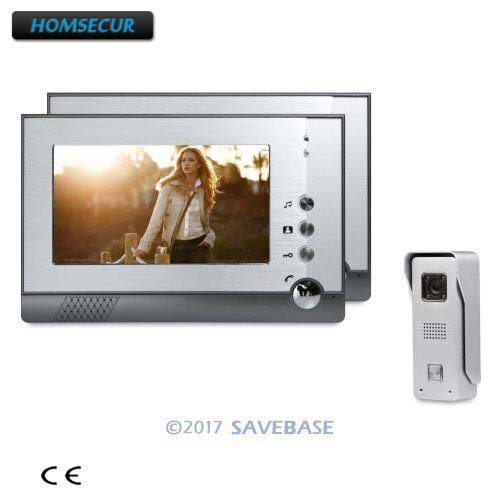 HOMSECUR 1V2 7inch Video Door Entry Security Intercom with IR Night Vision for Home Security