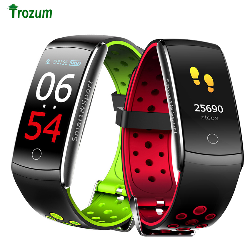 Pulsera inteligente Q8S Monitor de ritmo cardíaco pulsera de reloj Q8 para Android IOS para hombres y mujeres Correas de reloj Retro de cuero genuino para hombres y mujeres 18mm 20mm 22mm 24mm suave correa de reloj de ante de Metal accesorios con hebilla KZSD05