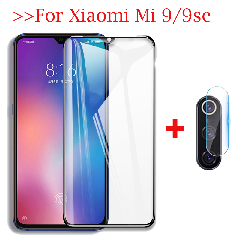 2-in-1 Camera Lens Film Tempered <font><b>Glass</b></font> For <font><b>Xiaomi</b></font> <font><b>Mi</b></font> <font><b>9</b></font> SE mi9 Camera <font><b>Screen</b></font> <font><b>Protector</b></font> <font><b>Glass</b></font> Xaomi <font><b>MI</b></font> 9se Protective Safety Film image