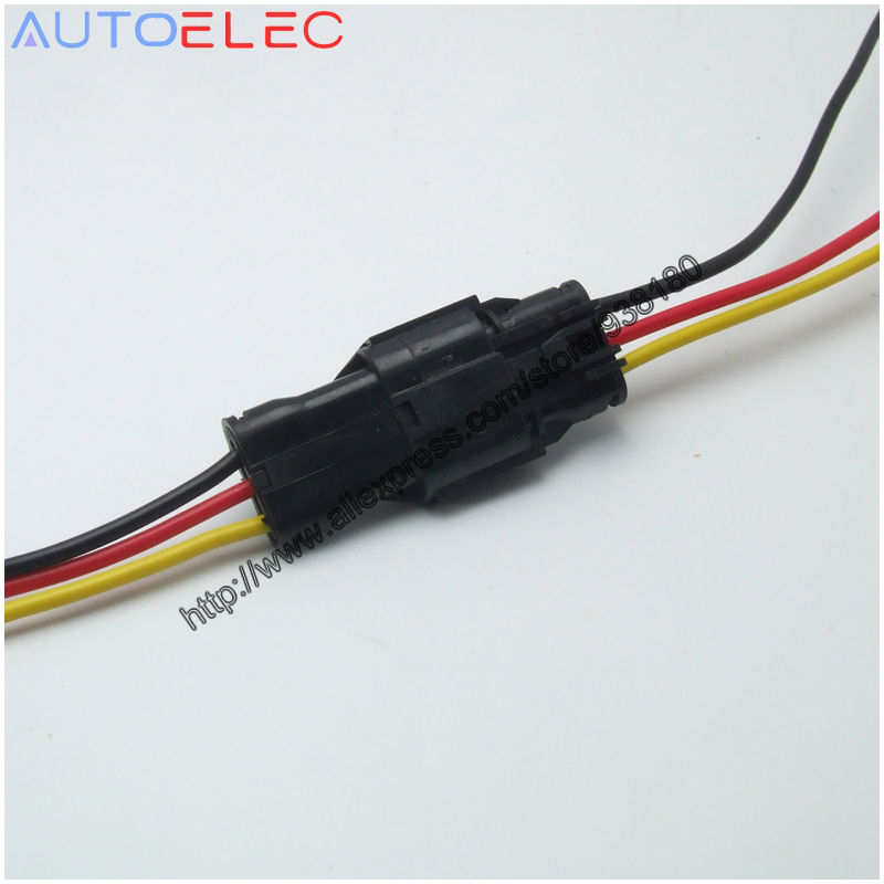 3 wire harness promotion shop for promotional 3 wire harness on 100 x set 3 way ket dj7031 1 8 11 21 female and male waterproof wire auto sensor wire harness