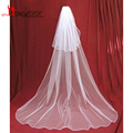 2016 Veu De Noiva Longo Fashionable Tulle Long Veil For New Bridal Two Layer Wedding Accessories