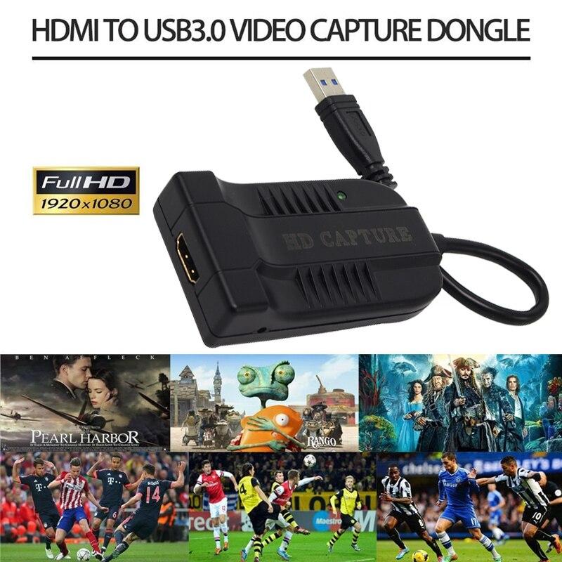 Hdmi para usb3.0 60fps captura de vídeo dongle jogo streaming transmissão ao vivo 1080 p para windows/linux/mac para usb uvc uac