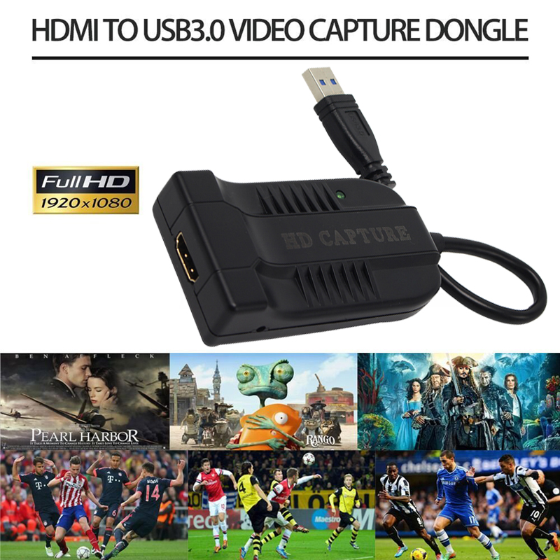 HDMI to USB3.0 60FPS VIDEO CAPTURE Dongle Game Streaming Live Stream Broadcast 1080P for Windows/Linux/Mac for USB UVC UAC