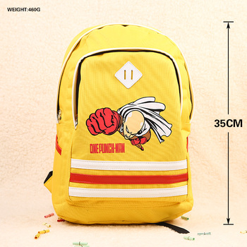 Anime ONE PUNCH MAN Cosplay  Male and female secondary school students bag