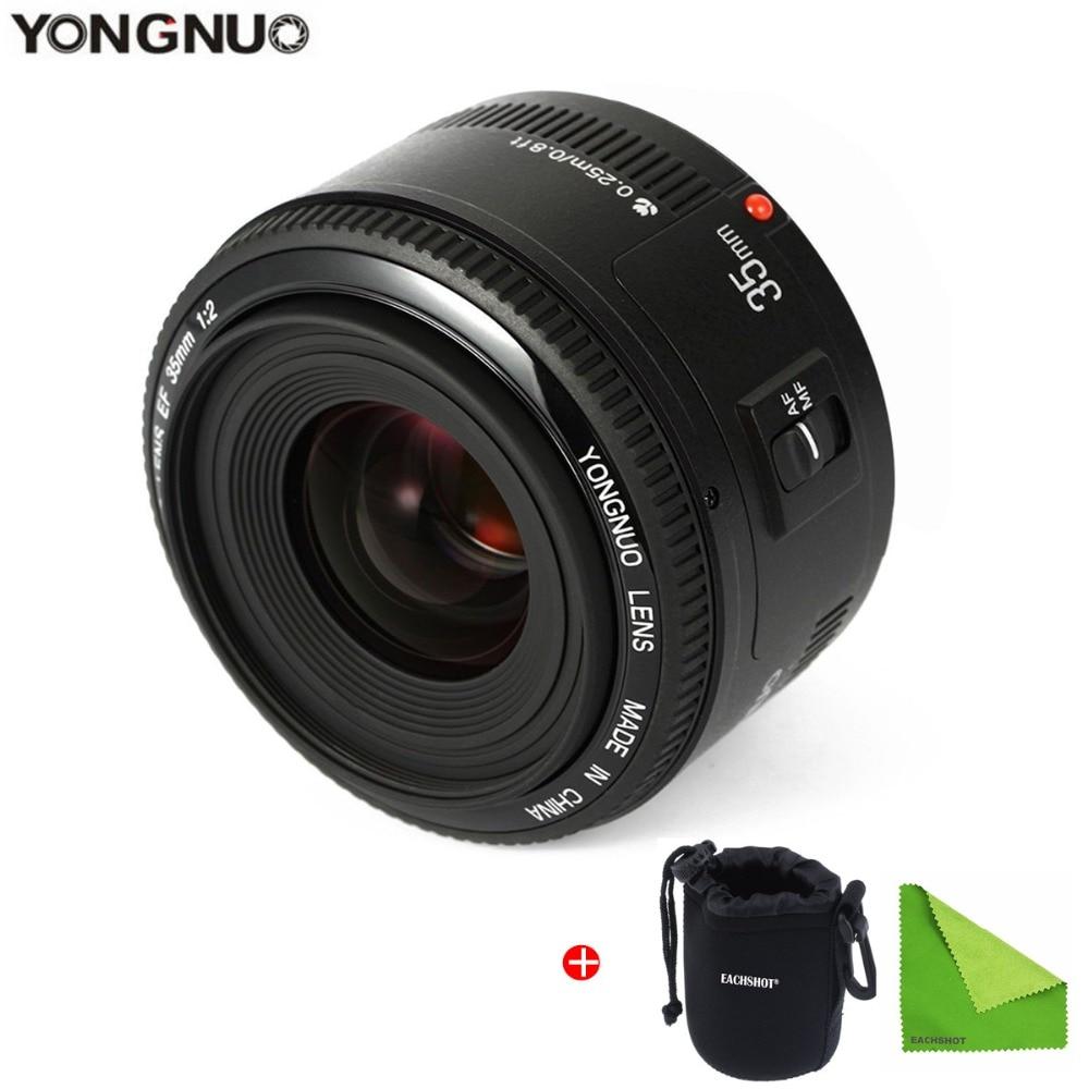Objectif de mise au point automatique à grande ouverture YONGNUO 35mm f2 Len YN35mm pour Canon EOS 5DII 5 DIII 650D 600D 450D 60D 7D 7DII 6D 30D appareil photo reflex numérique