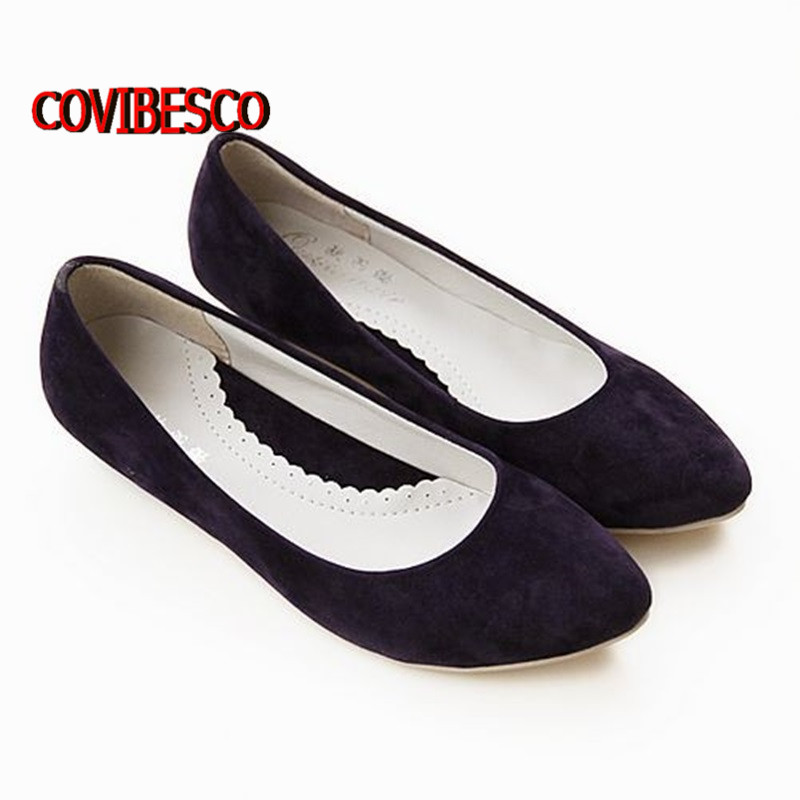 New Women Casual Pointed Toe Loafers Flats Ballet Ballerina Flat Shoes 5 Colors low heels comfortable shoes big Size 34-43 2017 spring summer new pointed flat flock bow women s shoes work shoes ballerina flats plus size 34 41