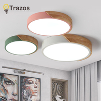 2019 TRAZOS pendant lights Led modern for dinning room Wooden+Metal suspension hanging ceiling lamp home lighting for Kitchen