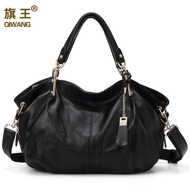 Aliexpress.com : Buy Qiwang Women Genuine Leather Hobo Bag Female ...