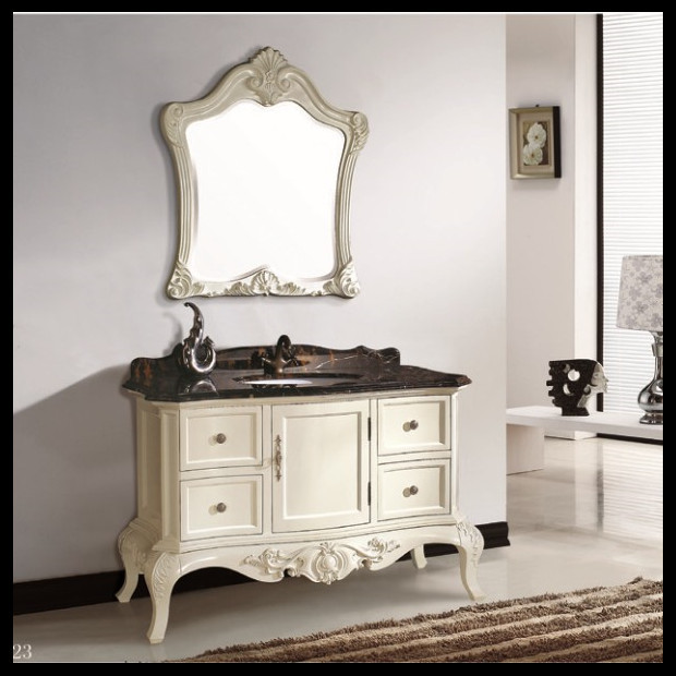 European French Style Solid Wood Bathroom Furniture ,wooden Bathroom Vanity  ,wooden Hotel Furniture