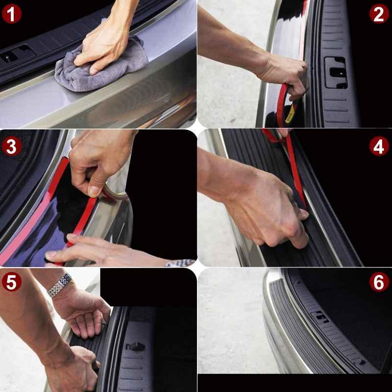 Auto Styling 90/105 cm SUV Achterbumper Protector Rubber Kofferbak Instaplijsten Plaat Scratch Guard Pad VOOR Hyundai i30 ix35 Creta Solaris