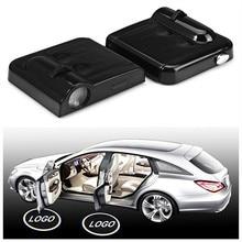 Шт. 2 шт. беспроводной светодио дный двери автомобиля Добро пожаловать логотип лазерный проектор для BMW Призрак Тень Свет авто Стайлинг