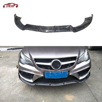 De fibra de carbono Perfil de alerón delantero para Mercedes Benz W207 C207 Coupe E200 E260 E300 2 2014, 2015 de 2016 la parachoques Chin